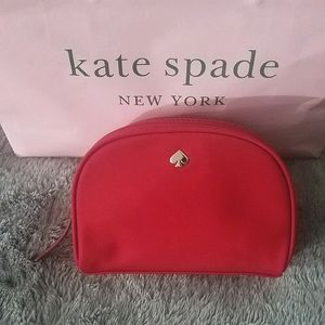 NEW Kate Spade Small Dome Red Cosmetic Bag